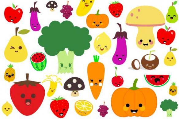 Papier peint textile enfant Tutti Frutti