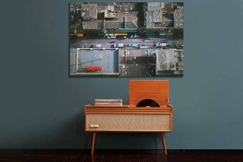 tableau moderne comme un oiseau izoa. Black Bedroom Furniture Sets. Home Design Ideas