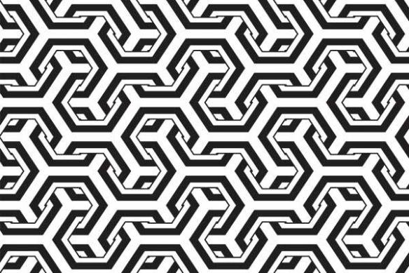 tapisserie geométrique Entrelacé
