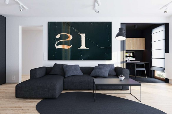 Tableau contemporain mural 21 degrés