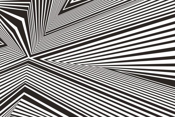 papier peint graphique noir et blanc convergence izoa. Black Bedroom Furniture Sets. Home Design Ideas
