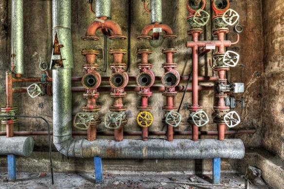 tapisserie design industrielle Tuyauterie