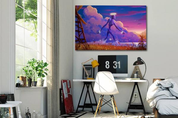 tableau pour chambre ado g ant de m tal izoa. Black Bedroom Furniture Sets. Home Design Ideas