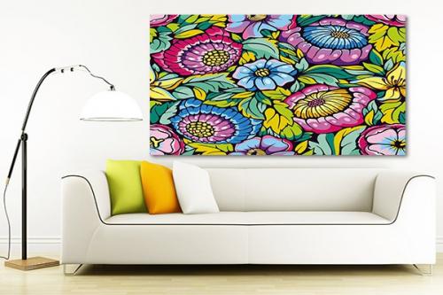 Tableau décoration coloré Fleurs Vitka