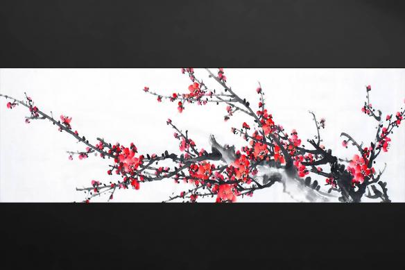 Papier peint déco Fleurs Zen