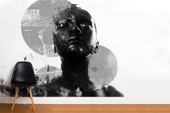 Papier peint design contemporain Black on White