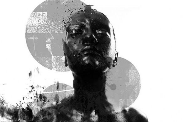 Poster mural design contemporain Black on White