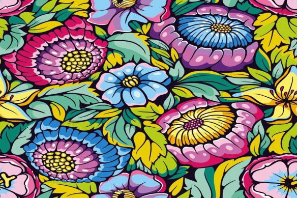 Papier peint graphique fleurs Vitka
