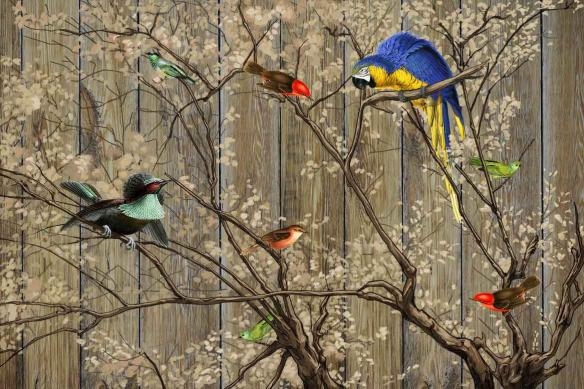 Tableau déco oiseaux Bestiaire