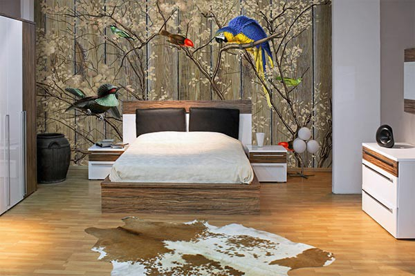 tapisserie murale bestiaire. Black Bedroom Furniture Sets. Home Design Ideas