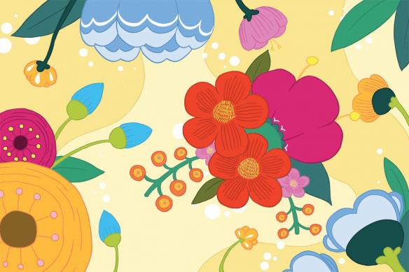 Poster mural Blomma jaune