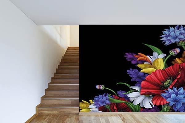 papier peint vintage merveille fleurie izoa. Black Bedroom Furniture Sets. Home Design Ideas