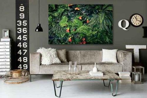 Tableau décoration trompe œil Mur végétal