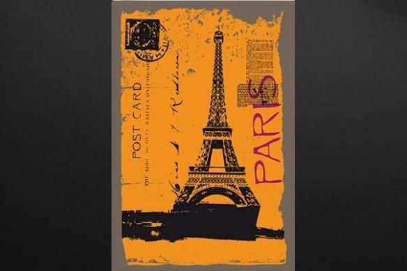 carte postal déco Paris