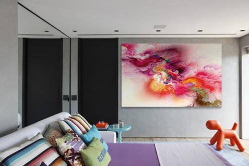 Tableau abstrait moderne Sango