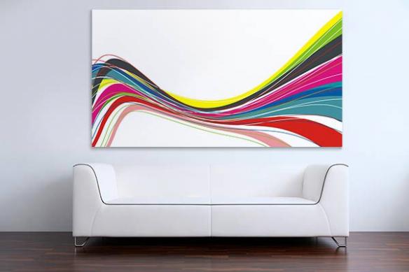 Tableau design abstrait Twiggy