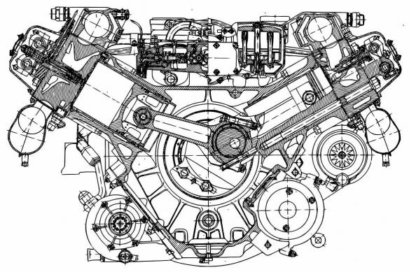 Toile déco Plan moteur mécanique