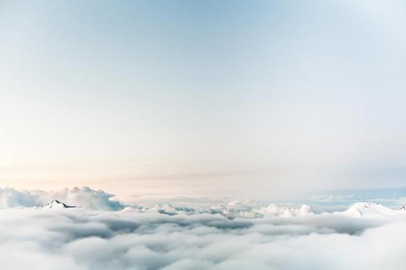 Toile moderne Au dessus des nuages