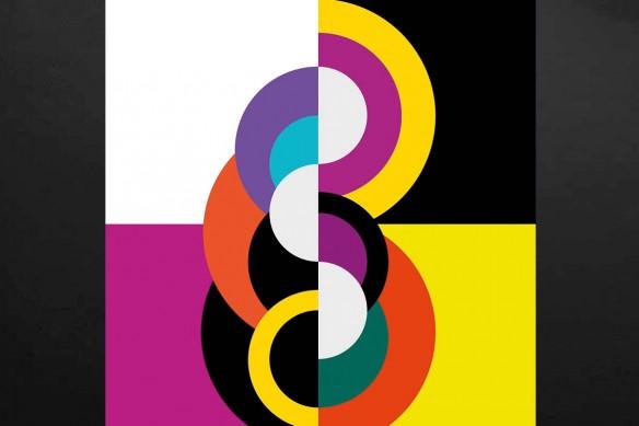 Tableau coloré abstrait Primitif