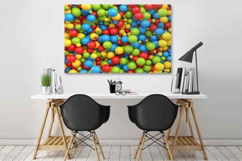 Tableau design Boules de gomme