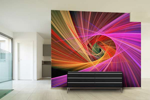 papier peint design abstrait 2 izoa. Black Bedroom Furniture Sets. Home Design Ideas