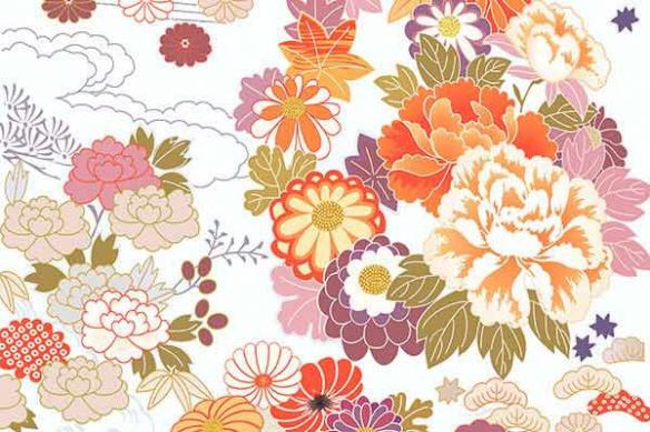 toile déco Amisha Fleurs