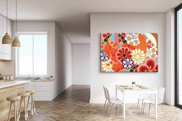 Tableau grand format Colorful Flowers