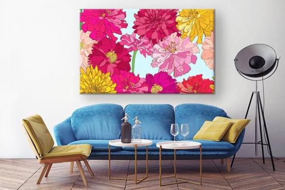 Tableau moderne coloré Papillonner