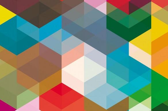 Toile abstraite colorée graphique Formes géométriques