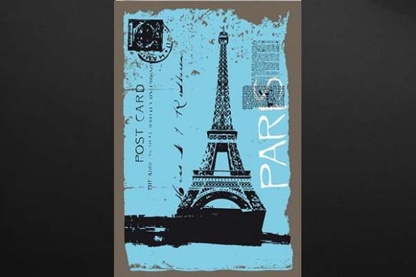 carte postal tour eiffel