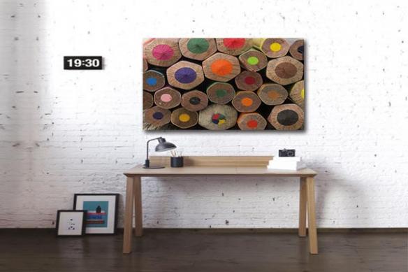 Toile contemporaine Crayons de couleurs