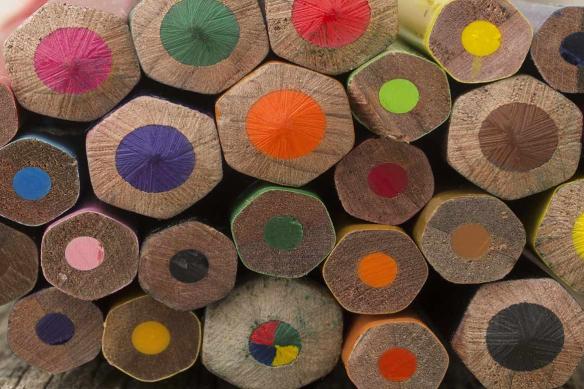 Toile moderne Crayons de couleurs