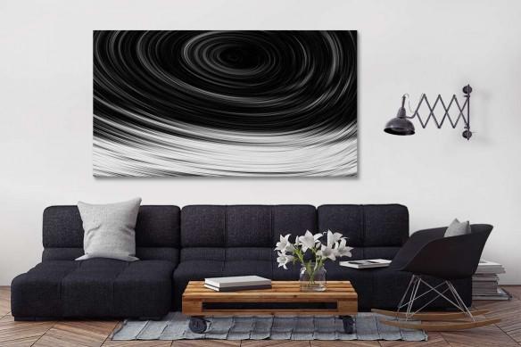 Tableau design noir et blanc Trou noir