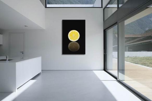 Tableau pour cuisine Citron design