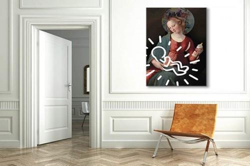 Tableau contemporain Madone