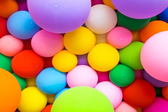 Toile colorée Baudruches