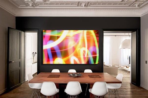 tableau abstrait color flashy izoa. Black Bedroom Furniture Sets. Home Design Ideas