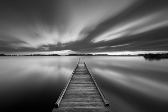 paysage noir et blanc Au bout de la Jetée