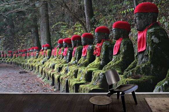 Poster mural zen Statues Japonaises