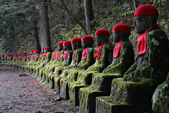 Décor mural zen Statues Japonaises