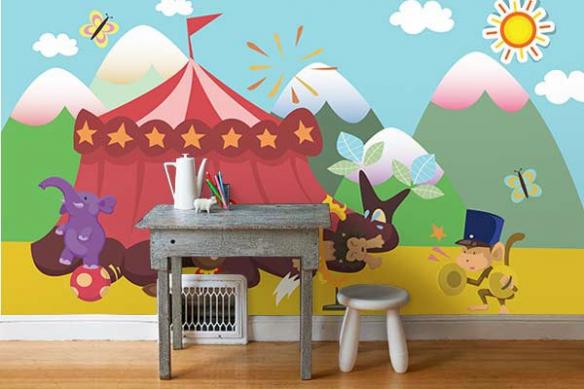 Tapisserie Chambre enfant Circus
