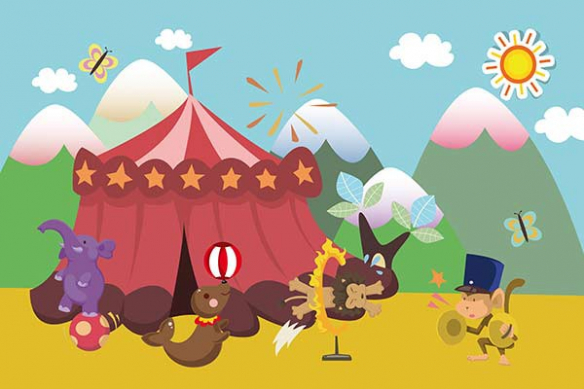 Poster Chambre enfant Circus