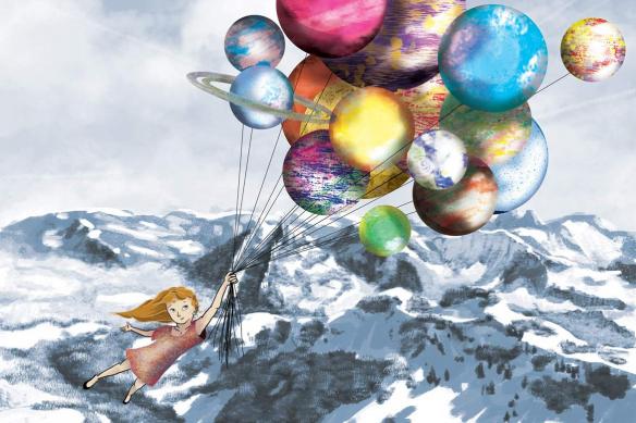 papier peint chambre enfant Au somme d'un Rêve bleu ciel