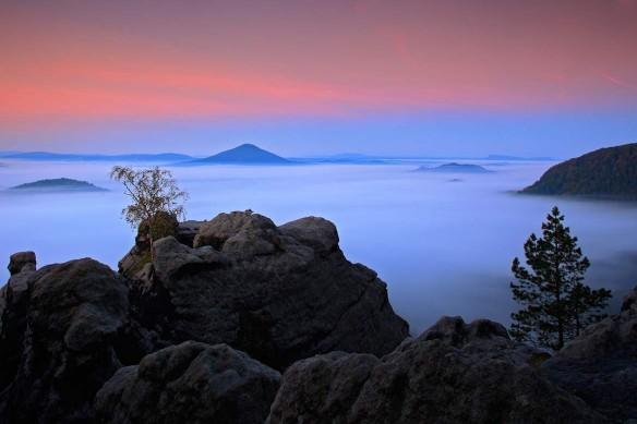Tableau déco paysage Mer de nuages