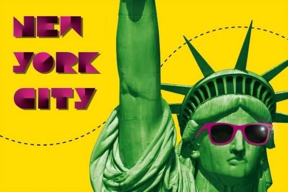 toile New york City jaune