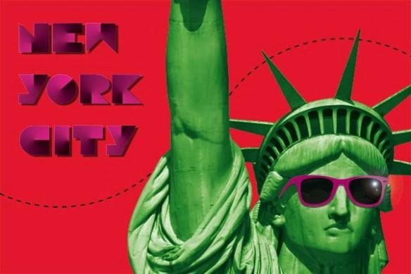 décoration New york City rouge