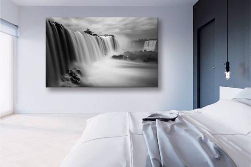 Tableau paysage noir et blanc Attraction - Izoa