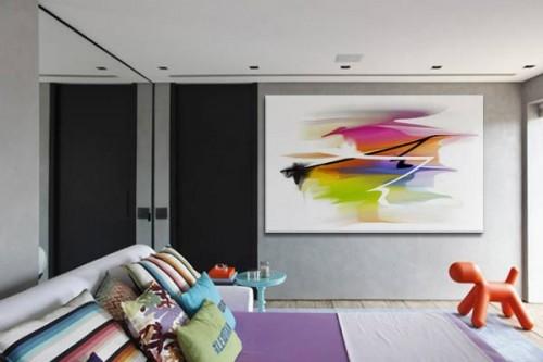 Tableau Abstrait Coloré Zonda