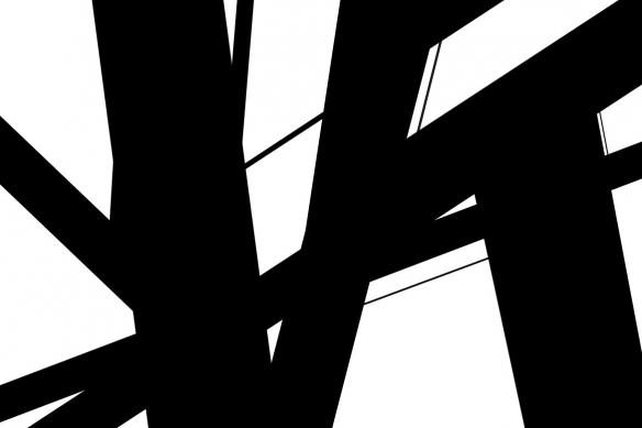 Tableau design abstrait noir et blanc Instable
