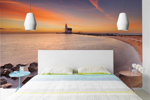 Tapisserie chambre Balade en bord de mer
